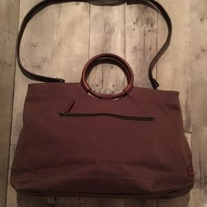 Fossil Canvas Bag With Floral Fabric Lining